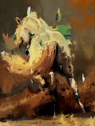 Arabian V by Christian Hook - Canvas on Board sized 24x18 inches. Available from Whitewall Galleries